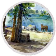 Lake Valley Bear Round Beach Towel