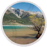 Lake Wakatipu Round Beach Towel by Werner Padarin