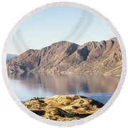 lake Wanaka in New Zealand south island Round Beach Towel