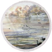 Lake Wendouree Round Beach Towel
