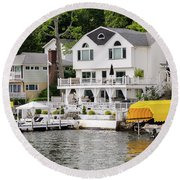 Lakefront Living Hopatcong Round Beach Towel