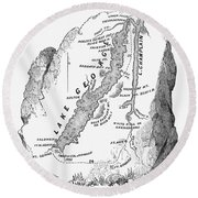 Lakes George And Champlain Round Beach Towel