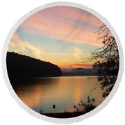 Lakeside Dreaming Round Beach Towel