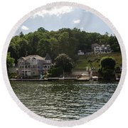 Lakeside Living Hopatcong Round Beach Towel