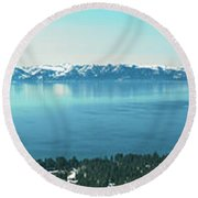 Laketahoe Panorama Round Beach Towel