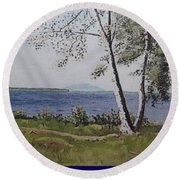 Lakeview Landing Round Beach Towel