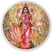 Lakshmi Darshanam Round Beach Towel