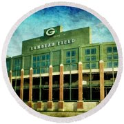Lalalalala Lambeau Round Beach Towel by Joel Witmeyer