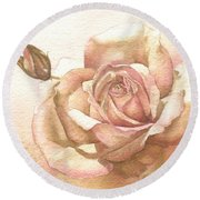 Lalique Rose Round Beach Towel