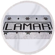 Round Beach Towel featuring the photograph Lamar by Stephen Stookey