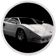 Lamborghini Countach 5000 Qv 25th Anniversary Round Beach Towel