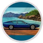 Lamborghini Espada 1968 Painting Round Beach Towel