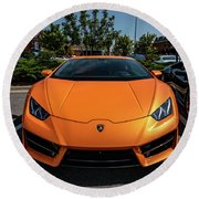 Lamborghini Huracan Round Beach Towel