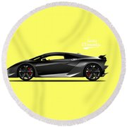 Lamborghini Sesto Elemento Round Beach Towel by Mark Rogan