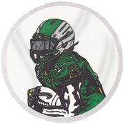 Lamicheal James 1 Round Beach Towel by Jeremiah Colley