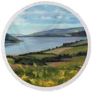 Lamlash - Facing Holy Isle Round Beach Towel