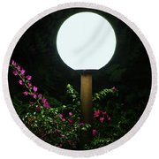 Lamp Post Round Beach Towel by Craig Wood