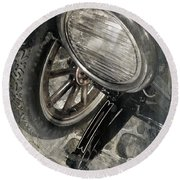 Round Beach Towel featuring the photograph Vintage Car #3124 by Andrey  Godyaykin