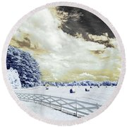 Lancaster Farm In Ir Round Beach Towel
