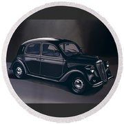 Lancia Ardea 1939 Painting Round Beach Towel