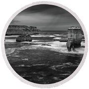 Land And Sea Round Beach Towel by Mark Lucey