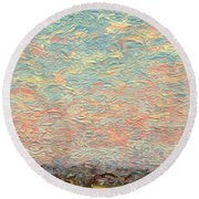 Land And Sky 3 Round Beach Towel