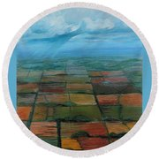 Land Art Round Beach Towel