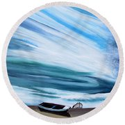 Land Meets Sky Round Beach Towel by Marilyn  McNish