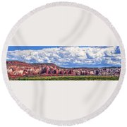 Land Of Enchantment Round Beach Towel by Gina Savage