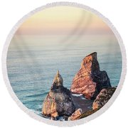 Land Of Eternal Sunset Round Beach Towel