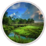 Round Beach Towel featuring the photograph Land Of Milk And Honey by Marvin Spates