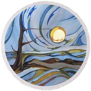 Land Of The Midnight Sun Round Beach Towel