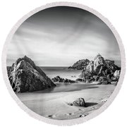 Land Of Tides Round Beach Towel