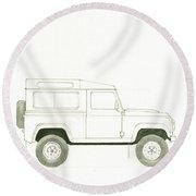 Land Rover Defender Round Beach Towel