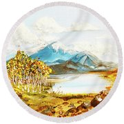 Land Scape No.-3 Round Beach Towel