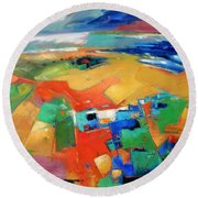 Landforms, Suggestion Of A Memory Round Beach Towel
