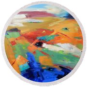 Landforms, Suggestion Of Place Round Beach Towel