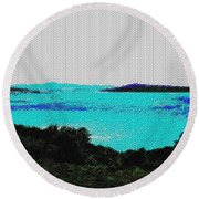 Landscape 32 Version 1 Round Beach Towel