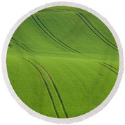 Round Beach Towel featuring the photograph Landscape 5 by Jean Bernard Roussilhe