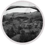 Landscape Arch Round Beach Towel by Marie Leslie