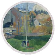 Landscape In Brittany, The David Mill Round Beach Towel