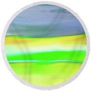 Landscape In My Dreams Round Beach Towel by Lenore Senior