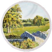 Landscape No. 12 Round Beach Towel