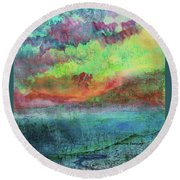 Landscape Of My Mind Round Beach Towel