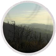 Landscape On The Swiss Plateau Round Beach Towel by Ernst Dittmar