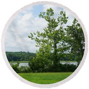 Landscape Photo II Round Beach Towel