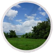 Landscape Photo Round Beach Towel