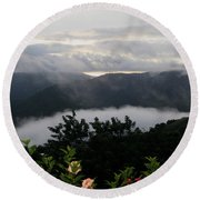 Landscape Tropical Round Beach Towel