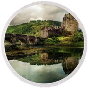 Landscape With An Old Castle Round Beach Towel