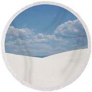 Landscapes Of White Sands 11 Round Beach Towel